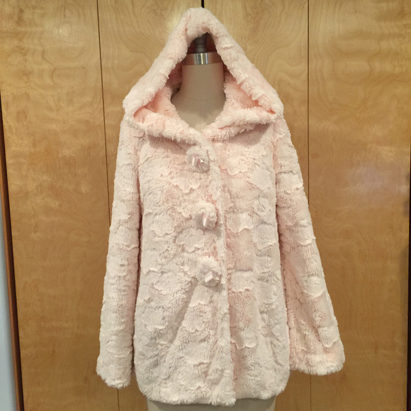 6570a2d12 Penderie Jackets & Coats | By Liz Lisa Pink Furry Hooded Jacket ...